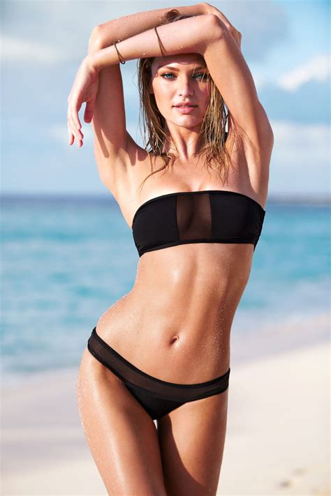 candice swanepoel  launches   swim collection part