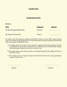 Board resolution template template update234com for Board resolutions template