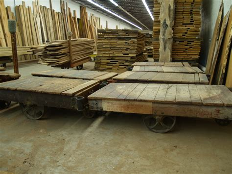 antique lumber cart antique factory carts are here and here and here wunderwoods