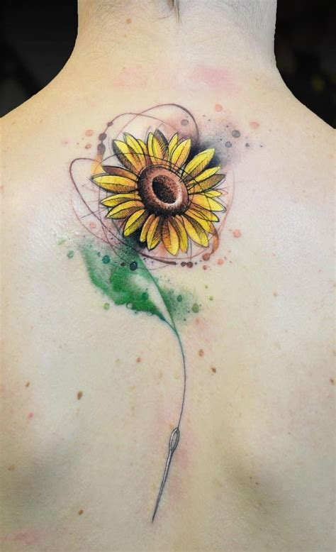 celebrate  beauty  nature   inspirational sunflower tattoos tattoos sunflower