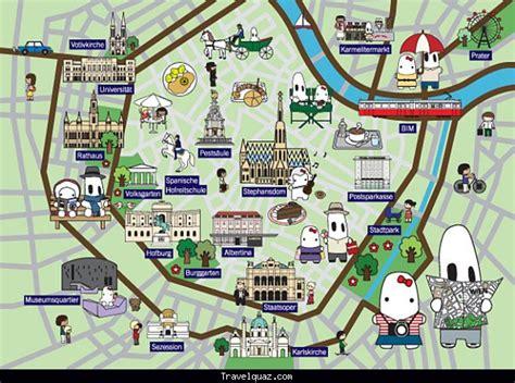 vienna tourist map  sightseeing  travelquazcom