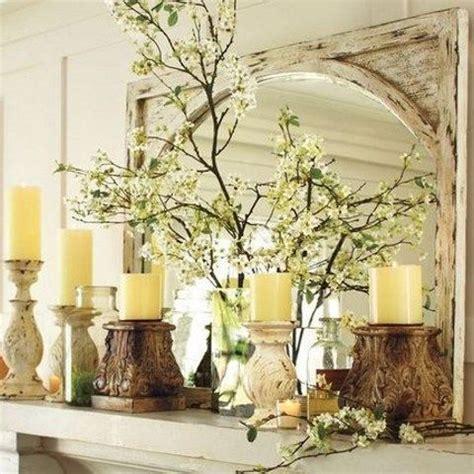 fresh spring mantel decor ideas dress  mantel