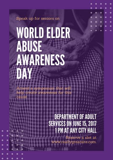 customize  world elder abuse awareness day poster