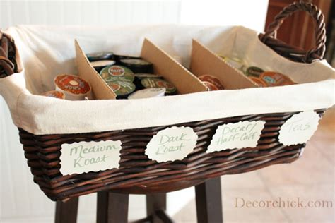 How to Organize Your K Cups and Coffee Pods {For Free}   Decorchick!
