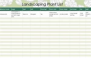 Landscaping, Plants, List