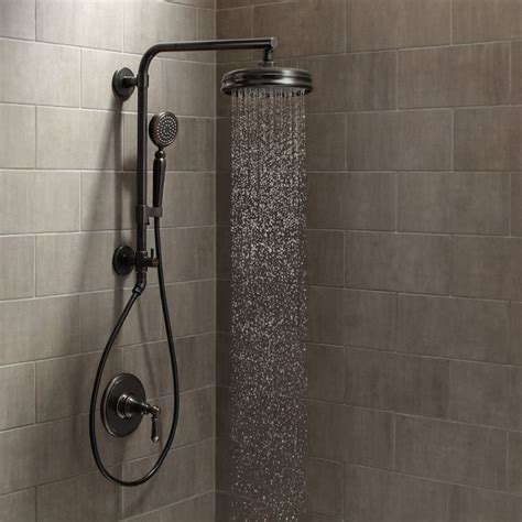 delta shower systems rubbed bronze kohler artifacts hydrorail custom shower system build com