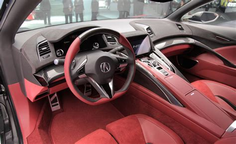 acura nsx interior revealed   detroit auto show