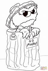Oscar Grouch Coloring Pages Sesame Street Drawing Grumpy Printable Supercoloring Puzzle Nypd Paper Getdrawings Colorings Comments sketch template