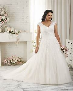 Top wedding dress designers for plus size brides for Plus size wedding dress designers