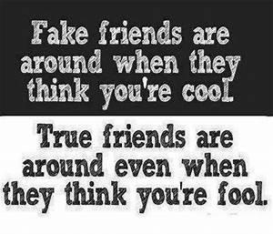 Quotes And Inspirational Wallpapers: Fake Friend vs True ...