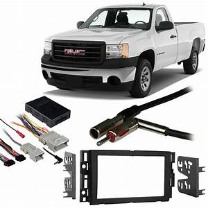 Gmc Sierra 07-13 Double Din Aftermarket Stereo Harness Radio Install Dash Kit