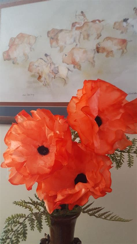 coffee filter poppies  images poppy craft poppies