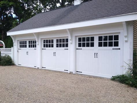 White Garage Doors by Clingerman Doors Custom Wood Garage Doors Clearville Pa