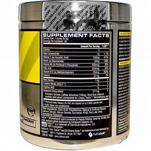 C4 Pre Workout Product Label