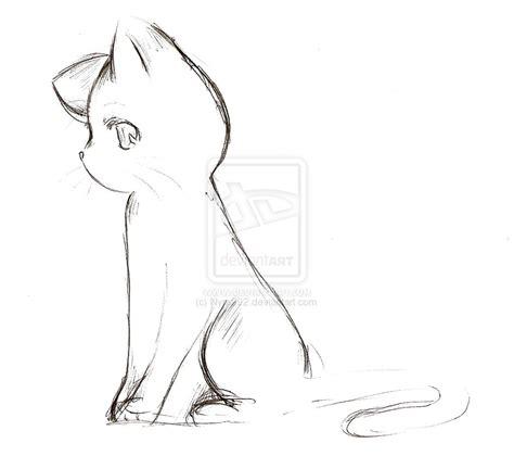 anime cat sketch  nyra  deviantart