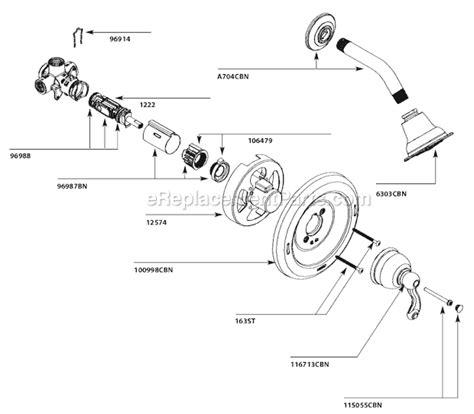 moen cbn parts list  diagram ereplacementpartscom