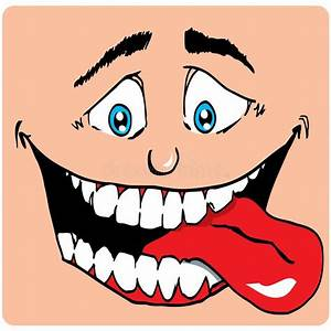 Cartoon Face Of Man With A Big Mouth Stock Vector ...