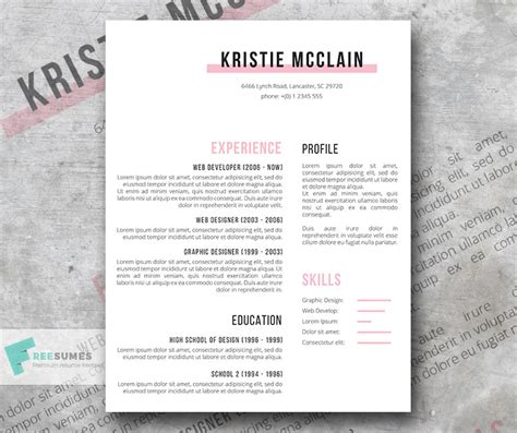 Clean Resume Template Free by Resume Template Freebie Crisp And Clean Freesumes
