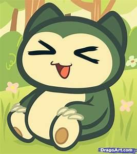 how to draw chibi snorlax, chibi pokemon | Art: Kawaii ...