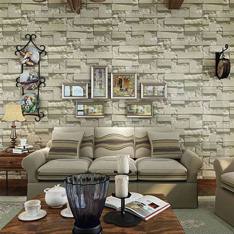 wholesale brick design luxury living room wallpapers