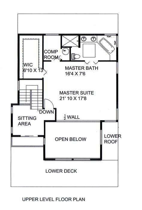 House Plan 85258 Modern Style with 2231 Sq Ft 2 Bed 2 Bath