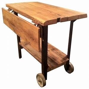 Custom Rustic Drop Leaf Table or Kitchen Island - Rustic