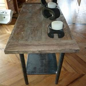 Pied de table style industriel stunning table carrae avec for Salle À manger contemporaineavec grande table carràé salle manger