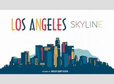 Los Angeles skyline silhouette design Vector download
