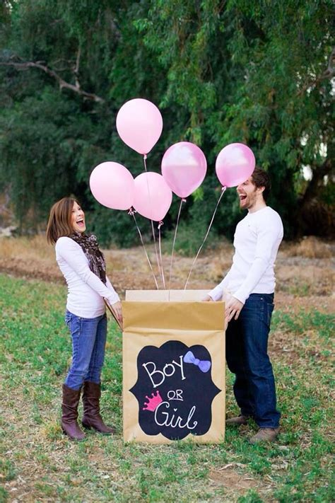 Baby Gender Reveal Photo Shoot Ideas