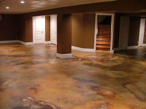 Acid Stained Basement Flooring  Basement Remodel