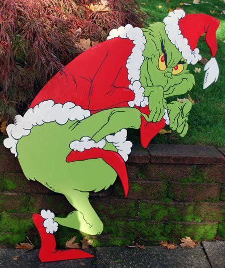 grinch yard art  grimestown  etsy crafts pinterest
