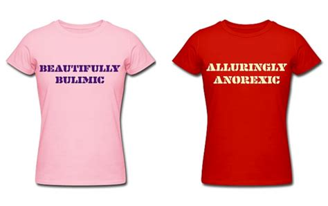 Alluringly Anorexic T-shirts 'raising Awareness Of Eating