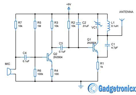 Mini Transmitter Circuit Gadgetronicx