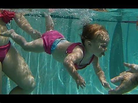 Baby Elizabeth Swimming Underwater  Isr Baby Swimming