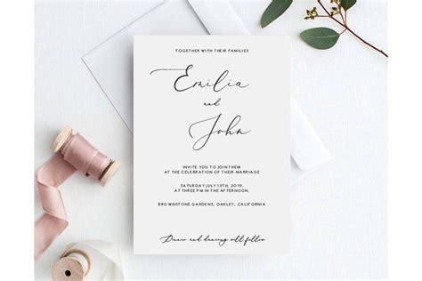 Elegant Wedding Invitation Template Elegant Classy Wedding