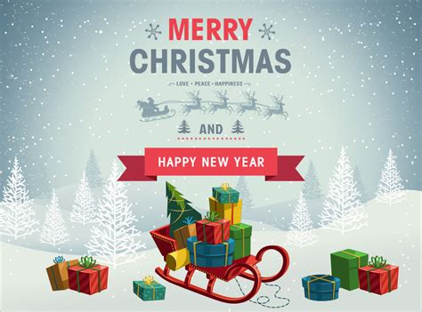 holiday christmas background with gift boxes psd