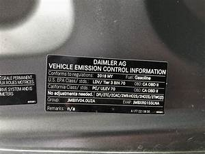 Is California Emissions Label Different Than 49 State Cars
