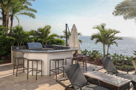 outdoor kitchen overlooking tampa bay  grillin