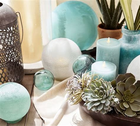 recycled glass balls recycled glass balls set of 3 pottery barn
