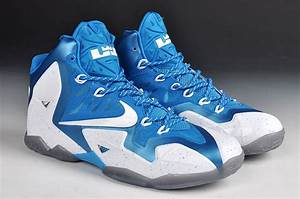 Real New Nike Lebron James 11 Blue White Shoes For Sale ...
