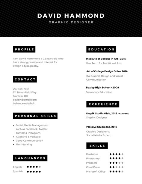 Canevas Cv by Membuat Resume Cv Dengan 100 Contoh Desain Unik Canva