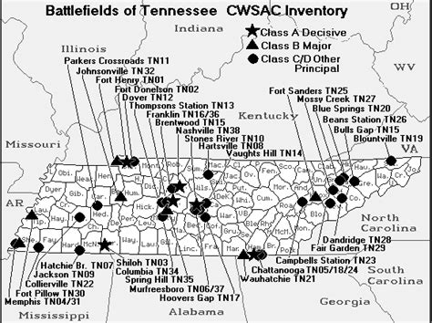 tennessee civil war battlefield map access genealogy