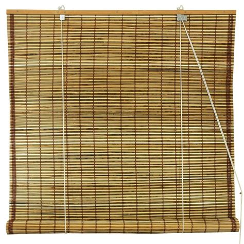 roll up bamboo blinds furniture burnt bamboo roll up blinds tortoise