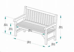 150cm Teak Park Bench | Bridgman