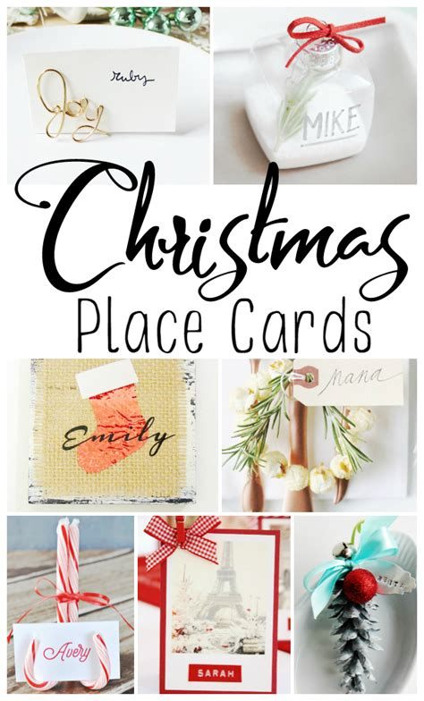 holiday table setting christmas place cards ideas classy