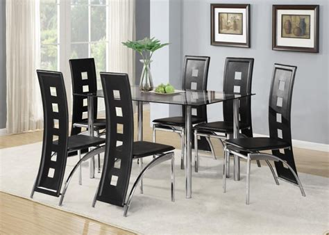 Glass Dining Table Sets by Glass Dining Tables And Leather Chairs Dining Room Ideas