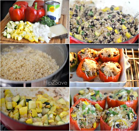 how to make stuffed peppers vegetarian stuffed peppers meatless monday series hip2save