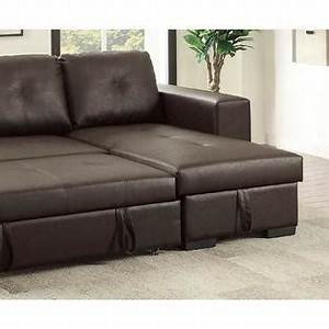 esofastore modular convertible sectional set sofa w pull With faux leather pull out sofa bed