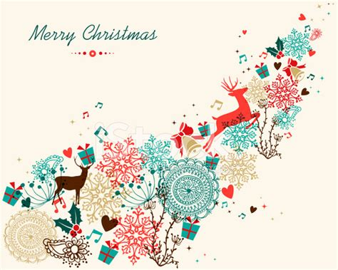 merry christmas vintage colors transparency stock vector freeimages com
