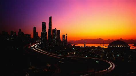 city lights   dusk wallpaperworld wallpaperlight